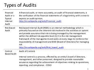 Internal Audit Methodology Audit Financial Statement