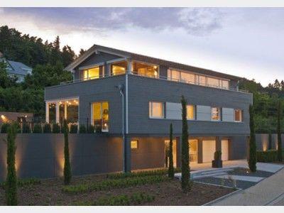 Doppelgarage satteldach modern  Stadthaus Schwaab - moderne Designer-Stadtvilla von Baufritz ...