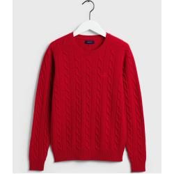 Gant Lambswool Pullover mit Zopfmuster (Rot) GantGant Source by ladenzeile sweater outfit