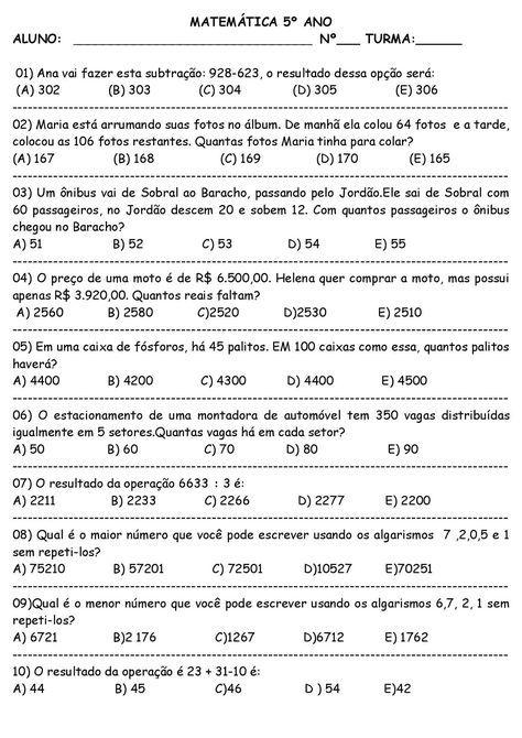 Pin Em Aulas De Matematica
