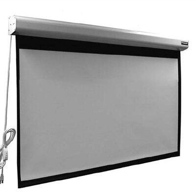 Vutec Elegante Matte Grey 110 Diagonal Electric Projection Screen In 2020 Projection Screen Electric Screen Portable Projector Screen