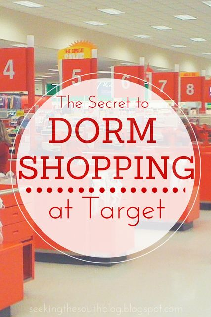 The Secret to Dorm Shopping at Target | Seeking the South