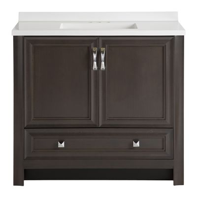 Glacier Bay Candlesby 31 In W X 19 In D Bathroom Vanity In Charcoal With Cultured Marble Vanity Vanity Top In White Cd30p2 Cl The Home Depot Marble Vanity Tops Cultured Marble