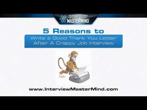 VIDEO:  5 Reasons to Write a Good Thank You Letter For Your Interview