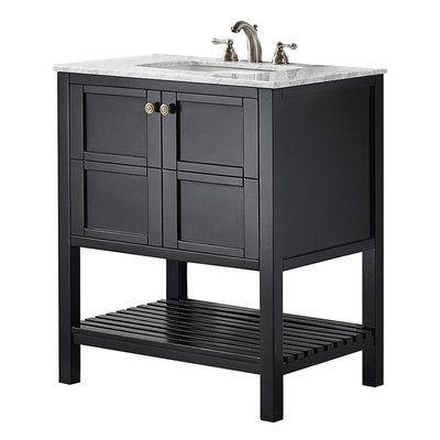 Beachcrest Home Zara 30 Single Bathroom Vanity Set Base Finish Black Espresso Black Vanity Bathroom Single Bathroom Vanity 30 Inch Bathroom Vanity