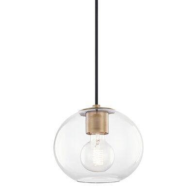 Wrought Studio Lynnwood 1 Light Globe Pendant Finish Aged Brass