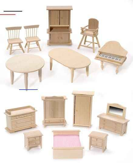 Pine Wood Mini Furniture 12 Styles Dollhousefurniture These Assorted Pi Wooden Dolls House Furniture Modern Dollhouse Furniture Dollhouse Furniture Sets