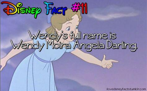 Wendy's full name is Wendy Moira Angela Darling.