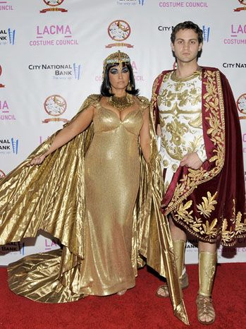 'Cleopatra' and Marc Antony - I worked on the refurbishment of the white and gold armour, including paint, and skirt creation/design for Western Costume's 100 years of Costume event at LACMA.
