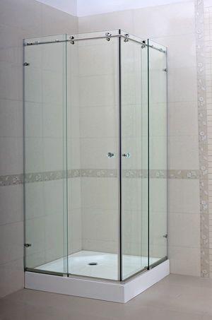 Crystal Gorgeous 90 Deg Corner Shower Door Shower Doors Frameless Shower Doors Sliding Shower Door