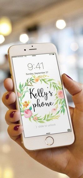 Personalized Cell Phone Wallpaper With Your Name Beautifully Feminine Ad Personalized Iphone Phone Iphone