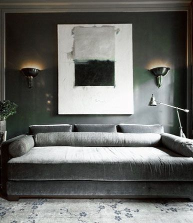 ♅ Dove Gray Home Decor ♅ Luxurious Grey Velvet Divan | ♅ Dove Gray Home  Decor ♅ | Pinterest | Dove Grey, Interiors And Grey Palette