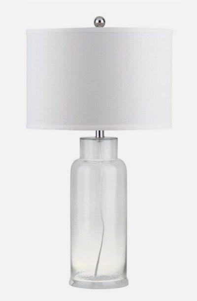 Safavieh Bottle Lit4157 Glass Table Lamp Set Of 2 Table Lamp Sets Lamp Table Lamp
