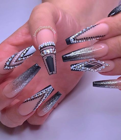 70 Alluring Acrylic Coffin Nails Design Ideas This Summer - Page 35 of 71 - Fashion Lifestyle Blog