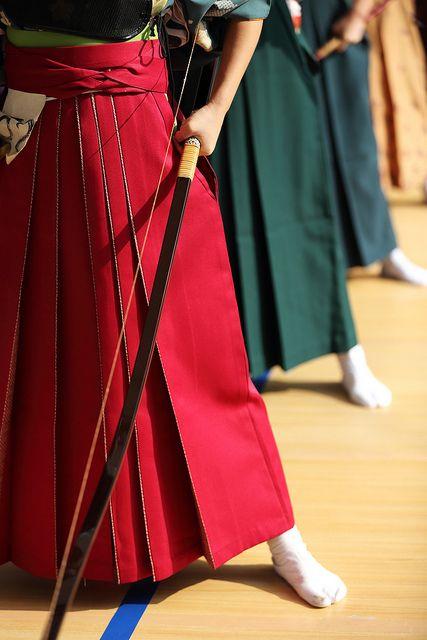 Toshiya Kyudo game at Sanju-Sangendo temple, Kyoto. Jan 12, 2014. 京都 / 三十三間堂 通し矢