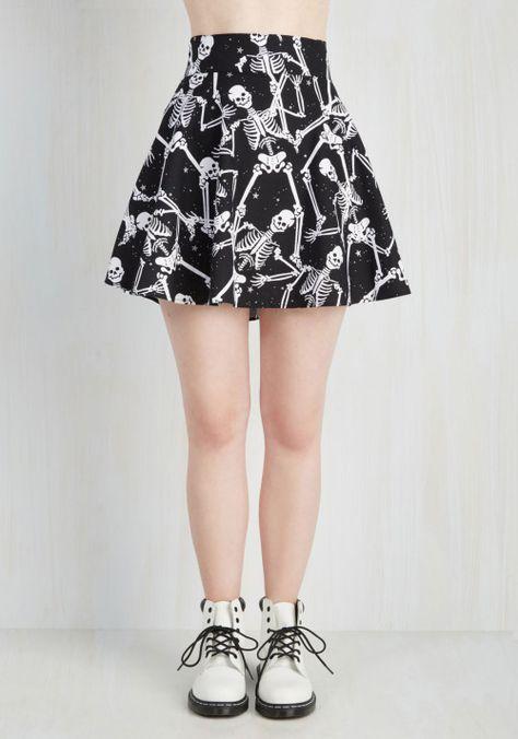 dancing skeleton skirt| up to 4XL!  pastel goth nu goth punk goth halloween plus size fashion plus size clothing plus size fachin skirt skater skirt skeleton bones plus modcloth