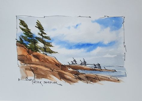 Northern Sky Youtube Video Aquarell Skizzenbuch Inspiration