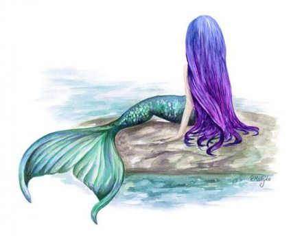 54 Trendy Drawing Ideas Mermaid Watercolor Painting Mermaid Painting Watercolor Mermaid Mermaid Art