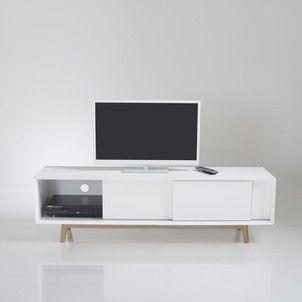 Meuble Tv Vintage 3 Portes Coulissantes Jimi La Redoute Interieurs La Redoute Meuble Tv Meuble Tv Design Meuble