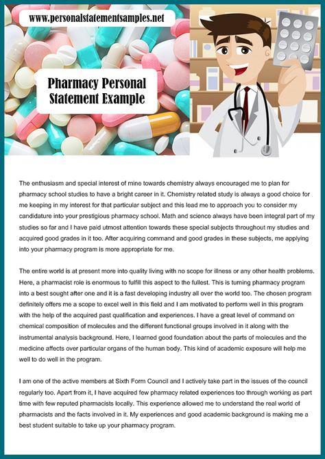 pharmacy school personal statement sample