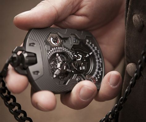 Behold the 1000 year watch - the holy grail of timepieces!Encased in a sleek steel frame, this exquisite pocket watch is expertly crafted with an unusual back piece that allows it to keep track of time up to a full millennium.