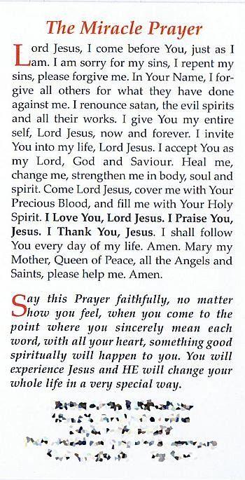 Fr Rookey Miracle Prayer x 10