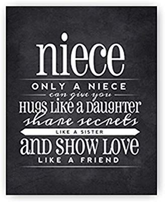 Niece Quotes From Aunt Images : niece, quotes, images, Amazon.com:, Niece, Gift,, Quote, Sign,, Chalkboard, Print,, Unique, Nie…, Quotes,, Quotes