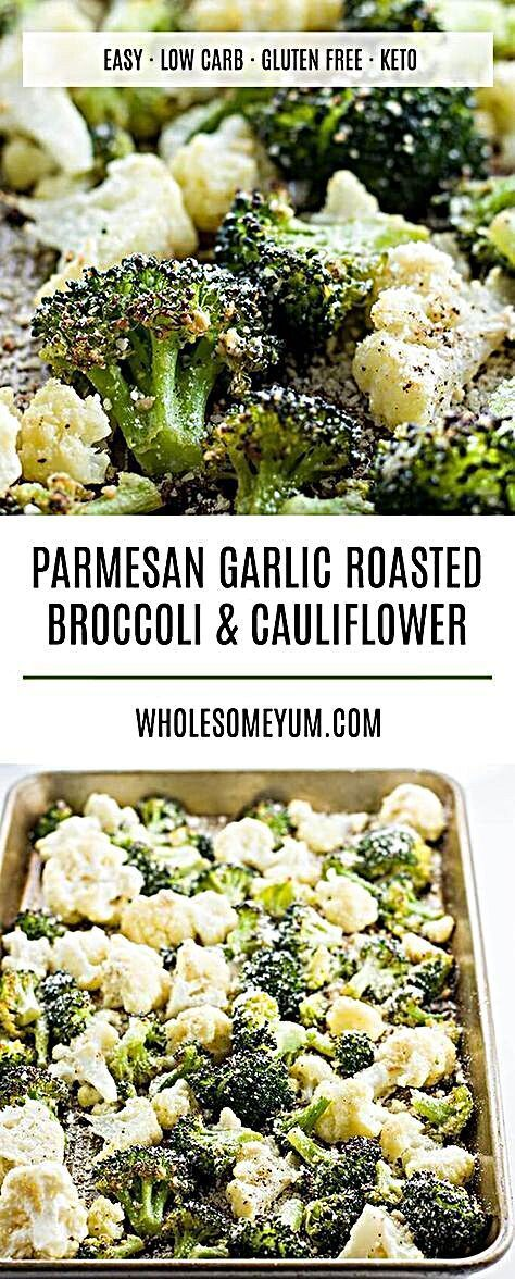 - Roasted Broccoli and Cauliflower Recipe with Parmesan & Garlic (Low Carb, Gluten-free) - This healthy roasted broccoli and cauliflower recipe with parmesan and garlic is quick and easy with just 5 ingredients. A delicious way to serve veggies! #foodhunter #foodaholic #restaurant     The employees, those with limited time, those who need to prepare something urgent for dinner, or those who have suddenly received the news that gue... #Broccoli #Cauliflower #Garlic #PARMESAN #Recipe #Roasted