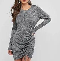 Check out this lovely dress! ZAFUL Heathered Cinched Bodycon Dress  #OutfitIdeasForWomen #OutfitIdeasCasual #OutfitIdeasGoingOut #OutfitIdeasForWinter  #OutiftIdeasAutumn  #ZafulOutfits #ZafulDresses  #ZafulClothes #ZafulWinter #ZafulOnlineShopping #ZafulTrendy #ZafulFashion