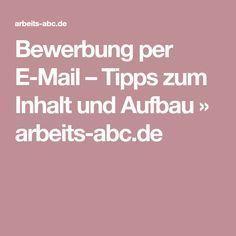 Bewerbung Per E Mail Tipps Zum Inhalt Und Aufbau