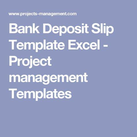 bank deposit slip Bank Deposit Slips Pinterest Bank deposit - free deposit slip template word