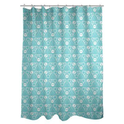 East Urban Home Classic Circles And Waves Single Shower Curtain