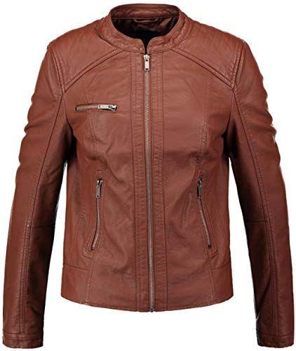 Koza Leathers Womens Lambskin Leather Biker Jacket KN229