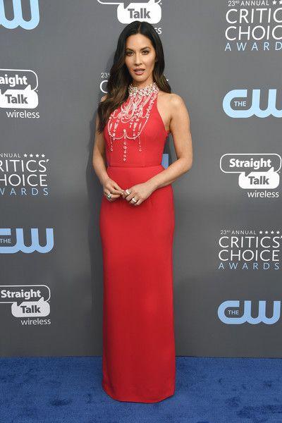 Host Olivia Munn attends the 23rd Annual Critics' Choice Awards.