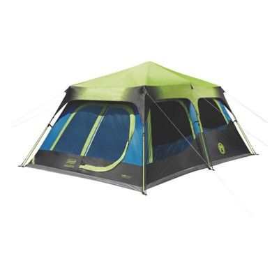 The Coleman 10 Person Dark Room Instant Cabin Tent With Rainfly Blocks 90 Of Sunlight So Families Can Put The Kids Cabin Tent 10 Person Tent Best Family Tent