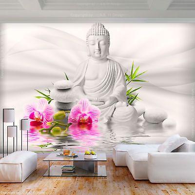 Vlies Fototapete Buddha Orchidee Blumen Weiss Tapete Wandbilder Xxl