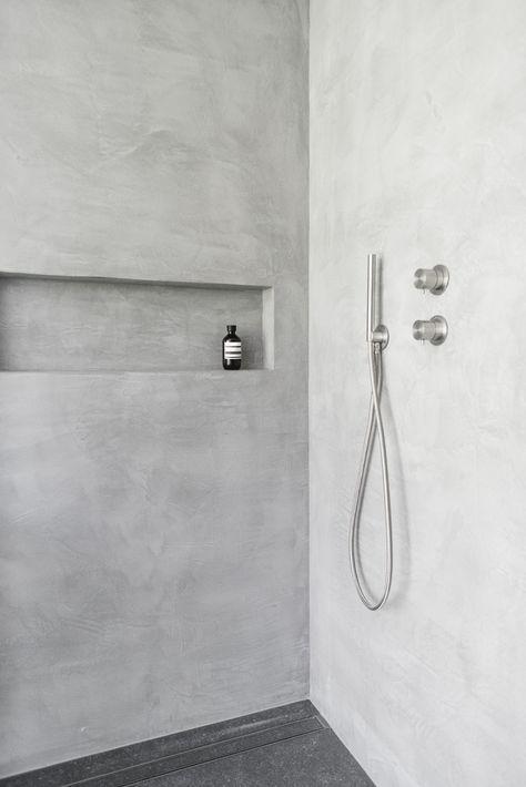 Microcement Bathroom Beton Dusche Badezimmer Beton Badezimmer