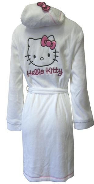 eb5d2be9d6 I found  Hello Kitty Hooded White Kitty Face Plush Robe  on Wish ...