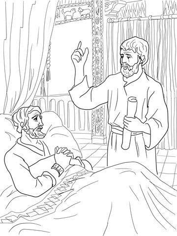 King Hezekiah Destroy Brazen Serpent Coloring Page Bible