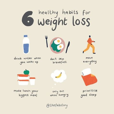 6 Healthy Habits for Weight Loss – Fabulous Magazine