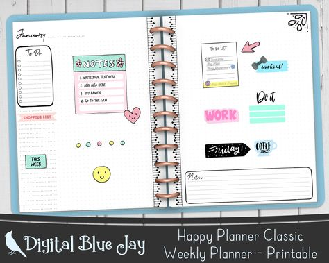 Black Doodles Weekly Planner Pages