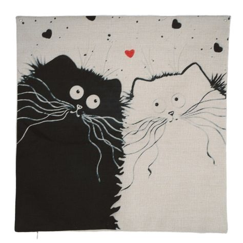 This pillow cover is a must-have for any cat lover. With adorable cartoon cats on it, it will be right at home in any cat lover's home. Size: 45cm*45cm*1cm Closure: Hidden Zip Material: Linen, Cotton You can't miss this kitty offer! Order now while stocks last!