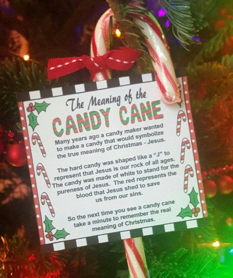 Legend of the Candy Cane Card and Craft Gift Labels