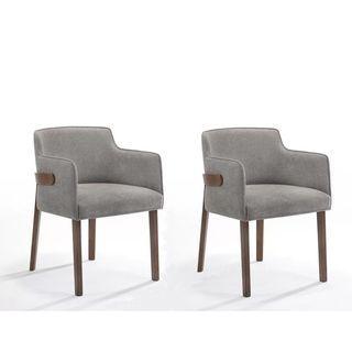 Modrest Jordan Modern Grey Walnut Dining Chair Set Of 2