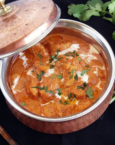 Murgh Makhani (Indian Butter Chicken) I've been searching for a Chicken Makhani dish to rival my favorite Indian restaurant's recipe -- I think this is the one to try.   http://Biltong.Ninja