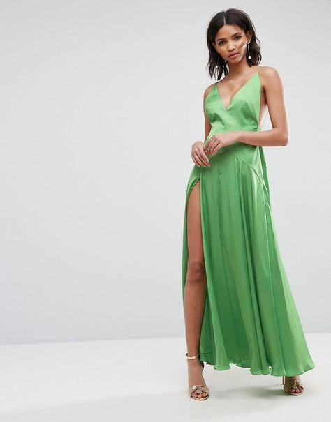 ASOS DESIGN ASOS ULTIMATE Cami Thigh Split Maxi Dress | Asos
