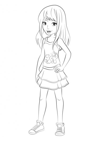 Lego Friends Stephanie Coloring Pages Lego Friends Lego
