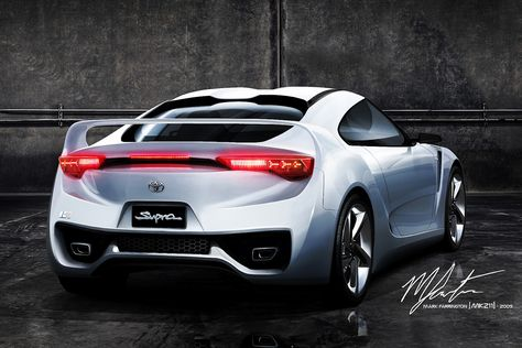 The Rear View To Complement The First View I Did Of This Concept Rear View Based On Toyota Ft Hs Concept Base Link Toyota Supra  Concept