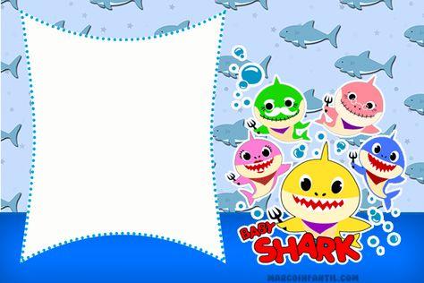 Invitaciones Para Imprimir De Baby Shark Invitaciones Para