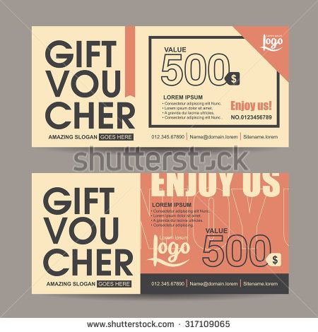 Gift voucher template with vintage pattern,retro gift voucher - gift certificate voucher template